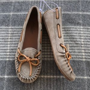 Lucky Brand suede brown moccasins ~ size 6 🆕